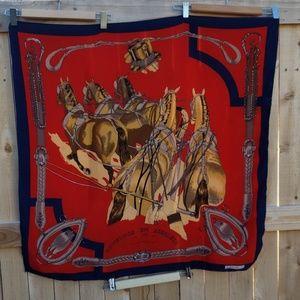 SUN KYUNG SA beautiful silk scarf/horse lover